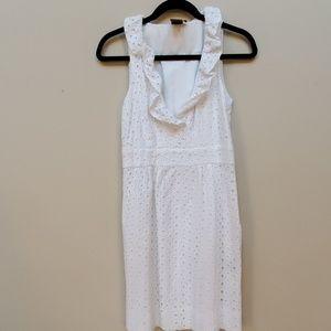 White eyelet Taylor dress